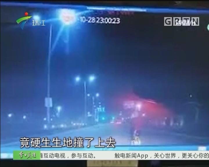 珠海:疯狂的单车 狂飙还撞停的士