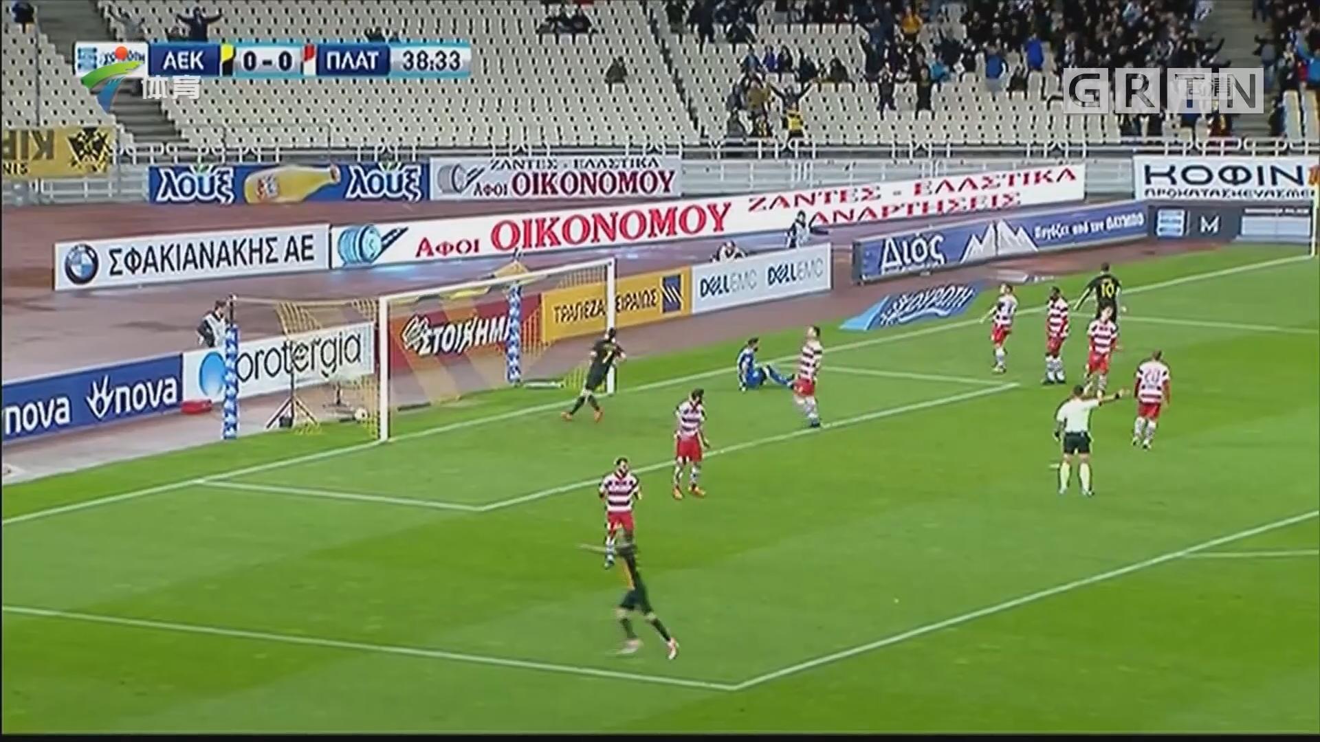 完胜普拉坦亚斯 雅典AEK登顶希腊超级联赛