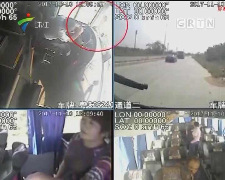 珠海:为强行下车打司机砸大巴 嫌疑人两天后落网