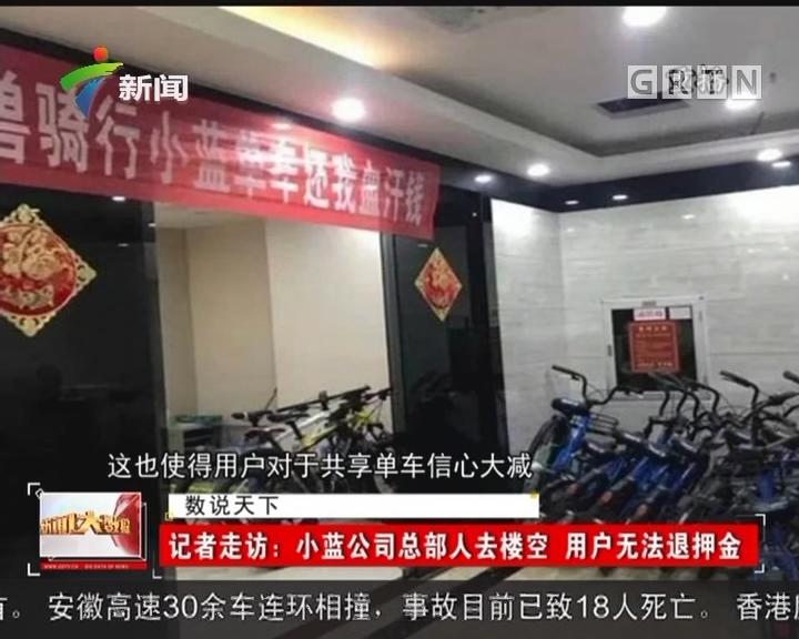 记者走访:小蓝公司总部人去楼空 用户无法退押金