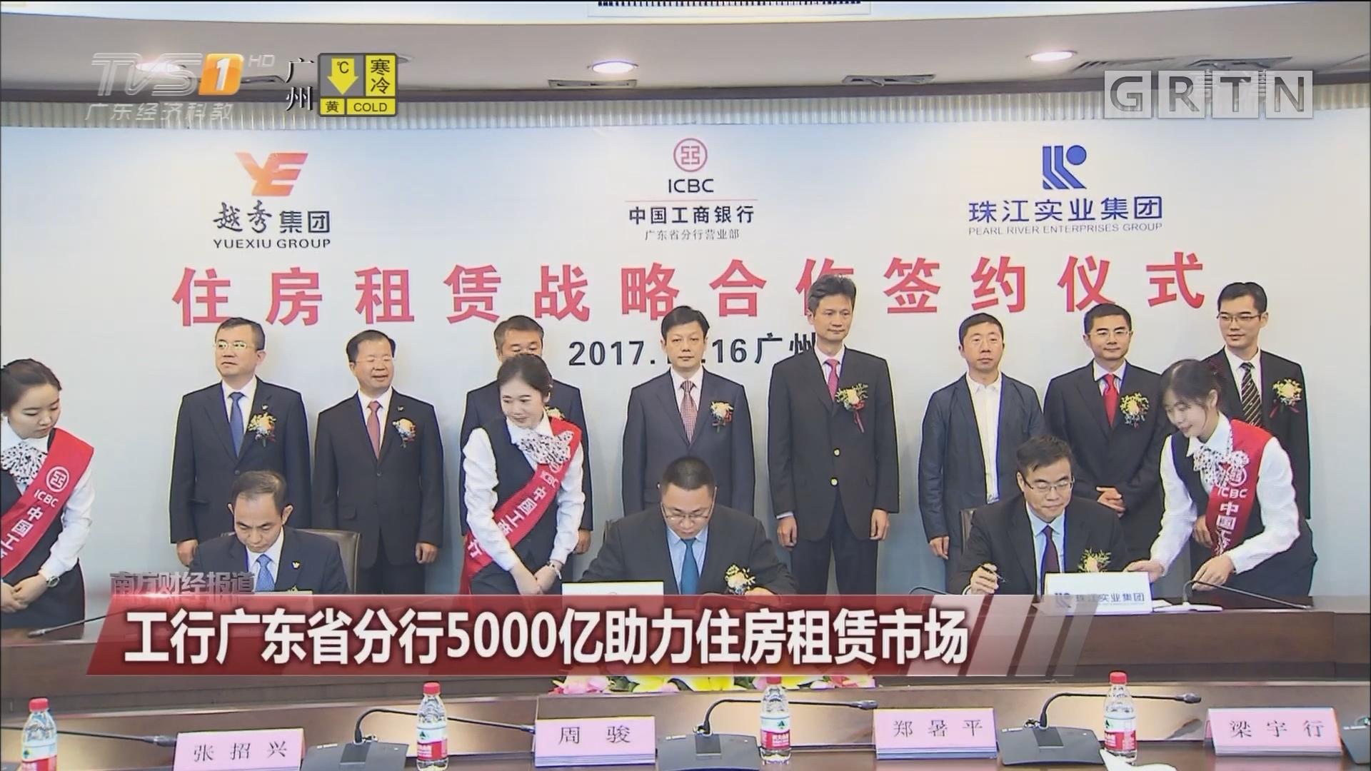 工行广东省分行5000亿助力住房租赁市场