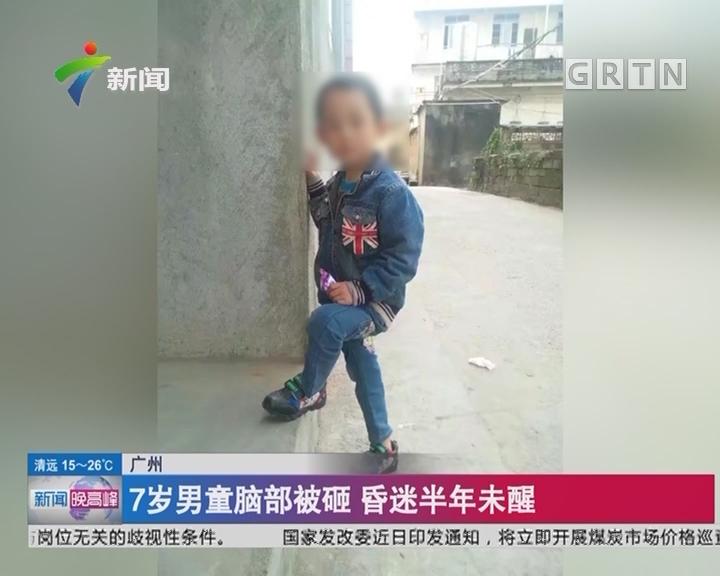 广州:7岁男童脑部被砸 昏迷半年未醒