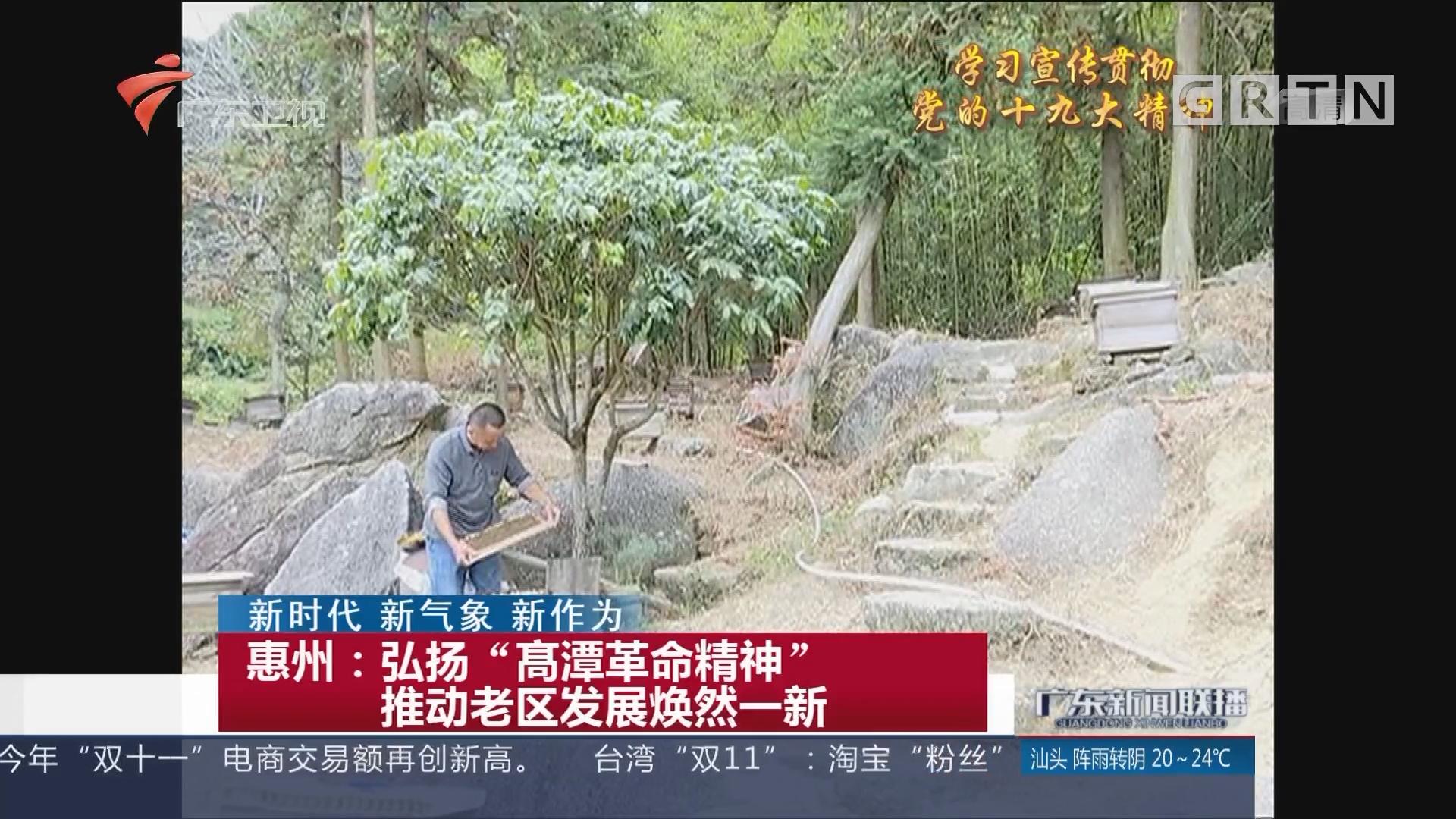 """惠州:弘扬""""髙潭革命精神""""推动老区发展焕然一新"""