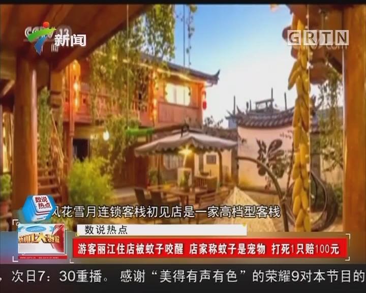 游客丽江住店被蚊子咬醒 店家称蚊子是宠物 打死1只赔100元