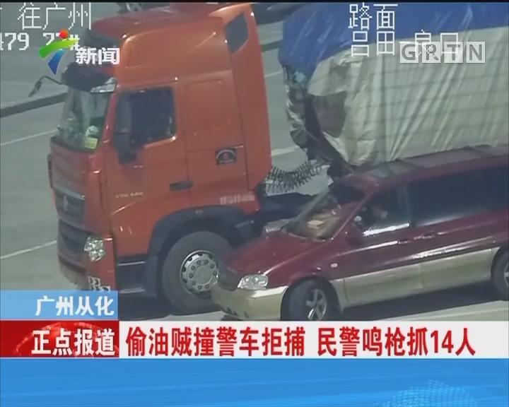 广州从化:偷油贼撞警车拒捕 民警鸣枪抓14人