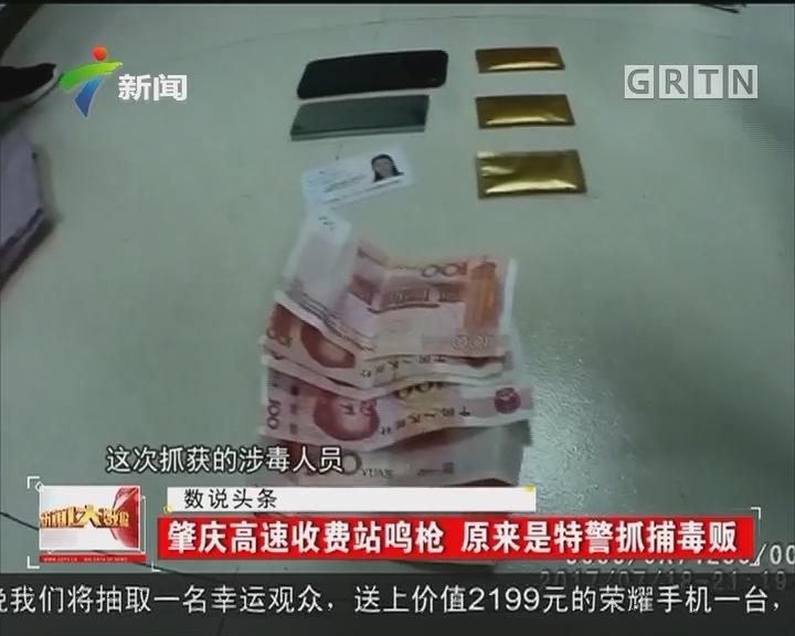 肇庆高速收费站鸣枪 原来是特警抓捕毒贩