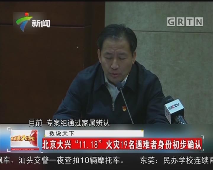 """北京大兴""""11.18""""火灾19名遇难者身份初步确认"""