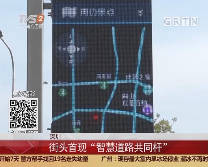 """深圳:街头首现""""智慧道路共同杆"""""""