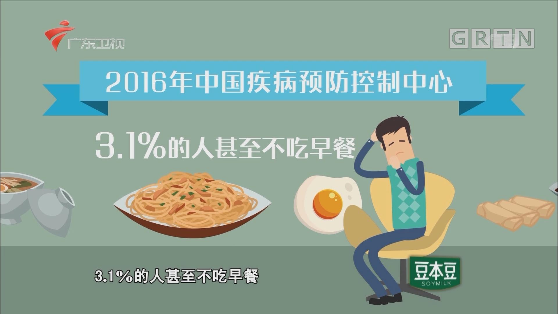 全国多少人不吃早餐?