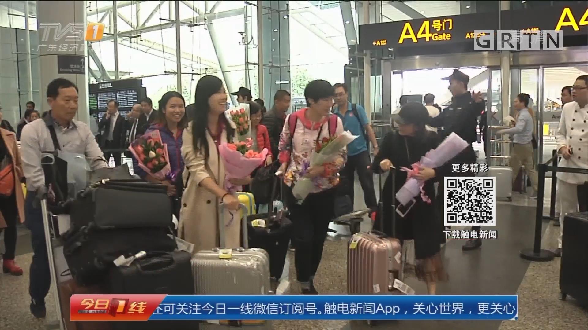 火山喷发 巴厘岛机场关闭后续:广东首批16名游客被专机安全接回国