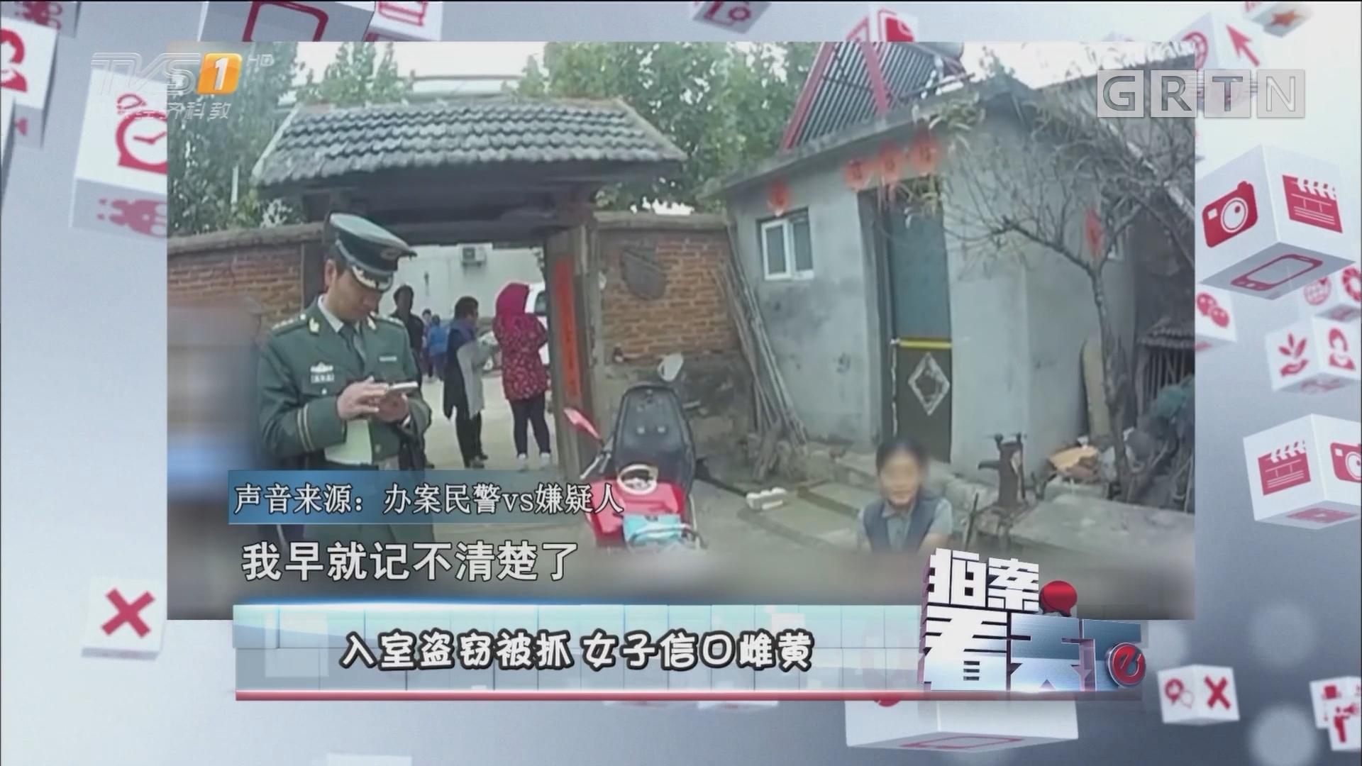 [HD][2017-11-01]拍案看天下:入室盗窃被抓 女子信口雌黄