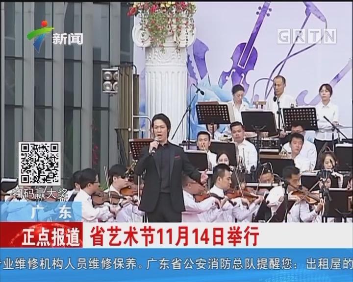 广东:省艺术节11月14日举行