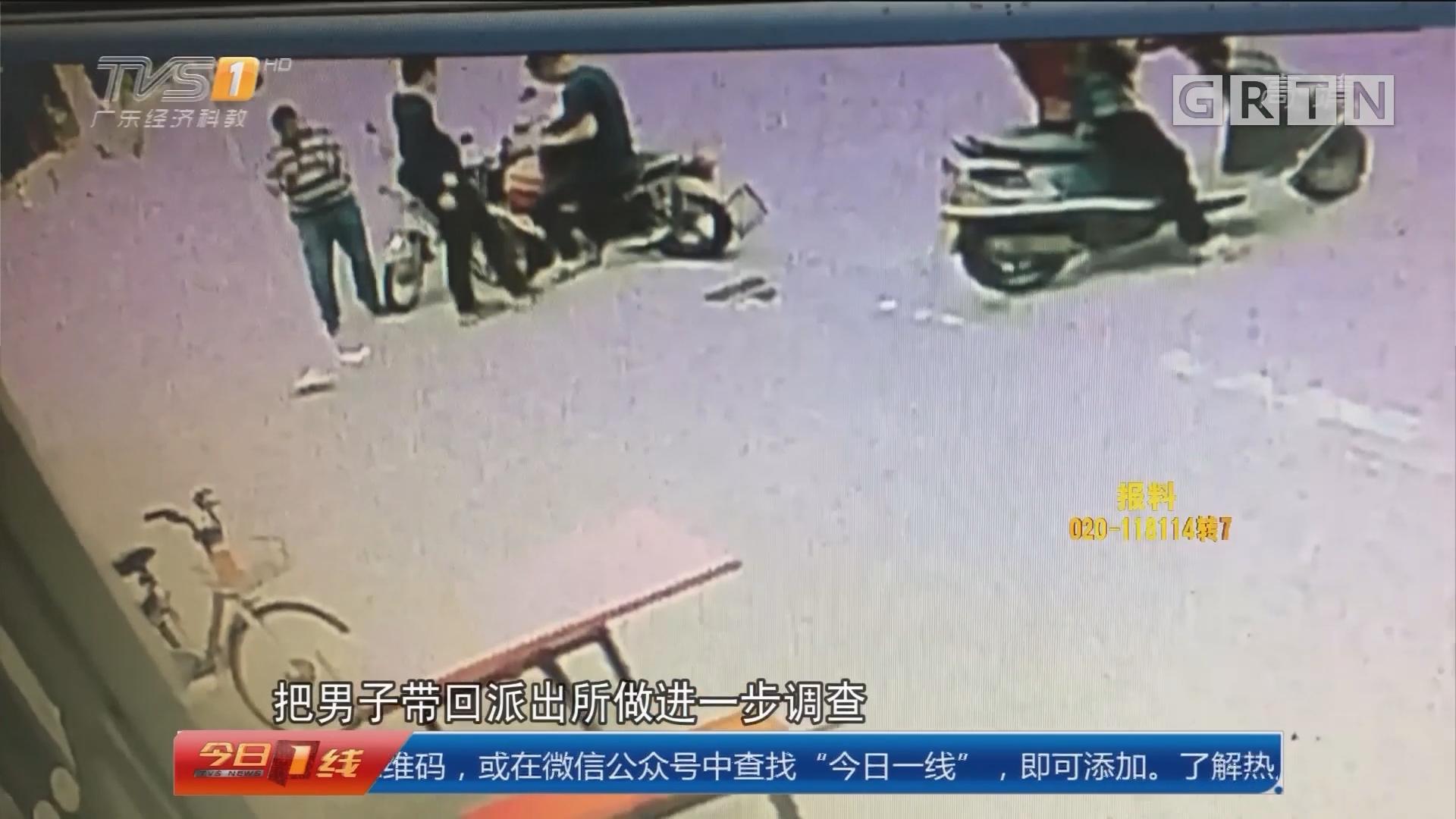 惠州博罗:街头被查心有鬼 送十万现金求放过?