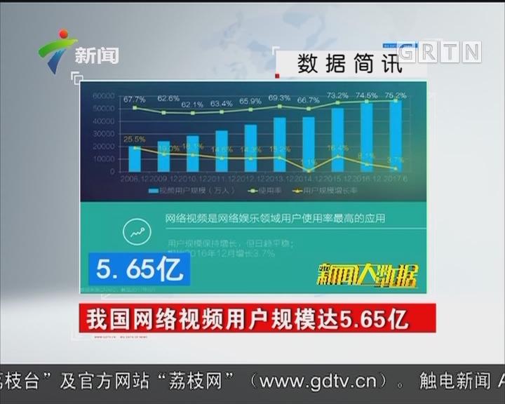 我国网络视频用户规模达5.65亿