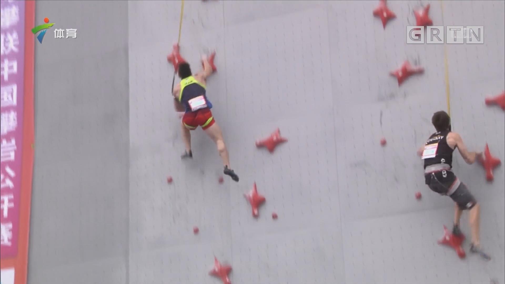 攀岩公开赛速度半决赛 中国选手顺利晋级