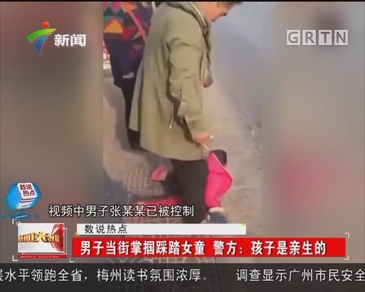 男子当街掌掴踩踏女童 警方:孩子是亲生的