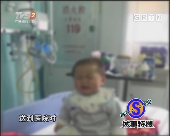 一岁男童疑遭弃养 高烧不退民警送医