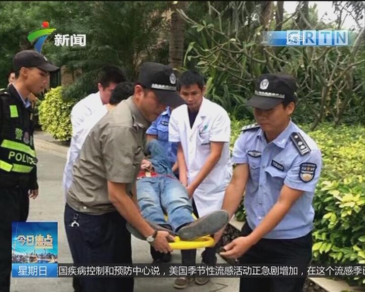 """海南三亚 警方:""""蜘蛛人遭割绳摔伤""""系城管虚构"""