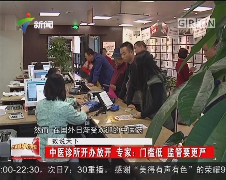 中医诊所开办放开 专家:门槛低 监管要更严