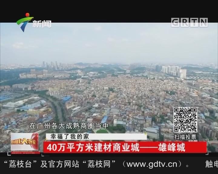 幸福了我的家:40万平方米建材商业城——雄峰城