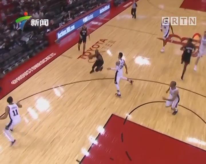 NBA联赛:火箭大胜马刺豪取12连胜