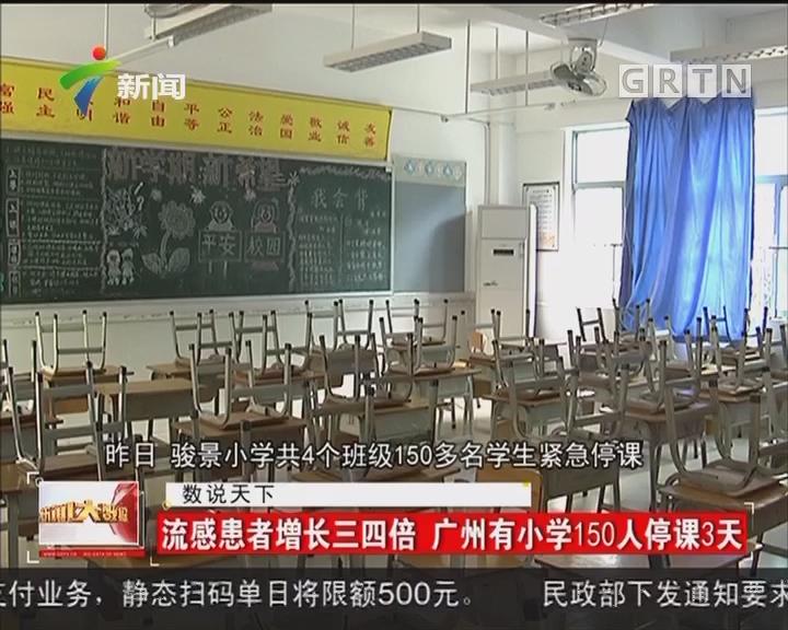 流感患者增长三四倍 广州有小学150人停课3天
