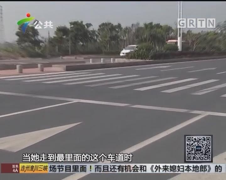 珠海:行人小跑过斑马线 被小车撞飞