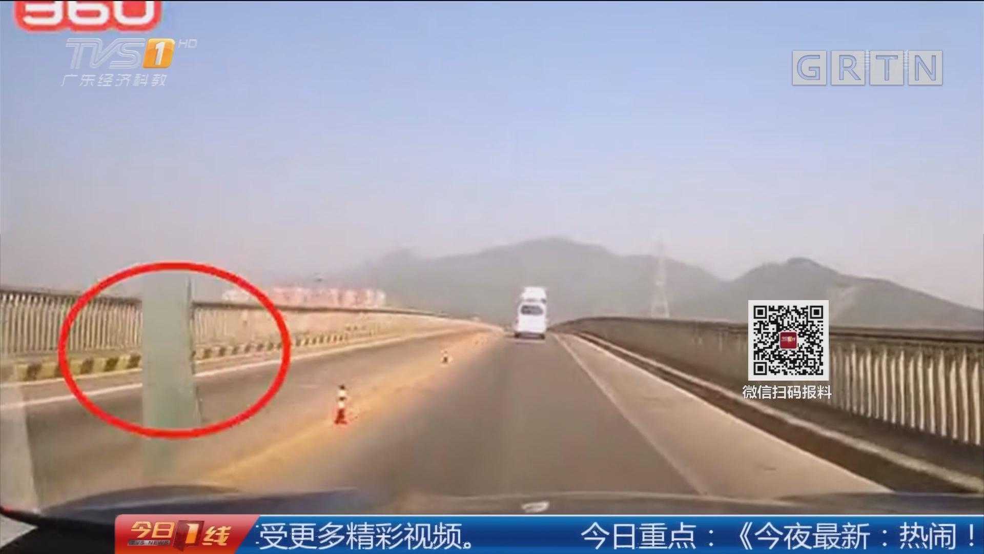 珠海斗门:惊!驾车行驶被飞来玻璃砸中