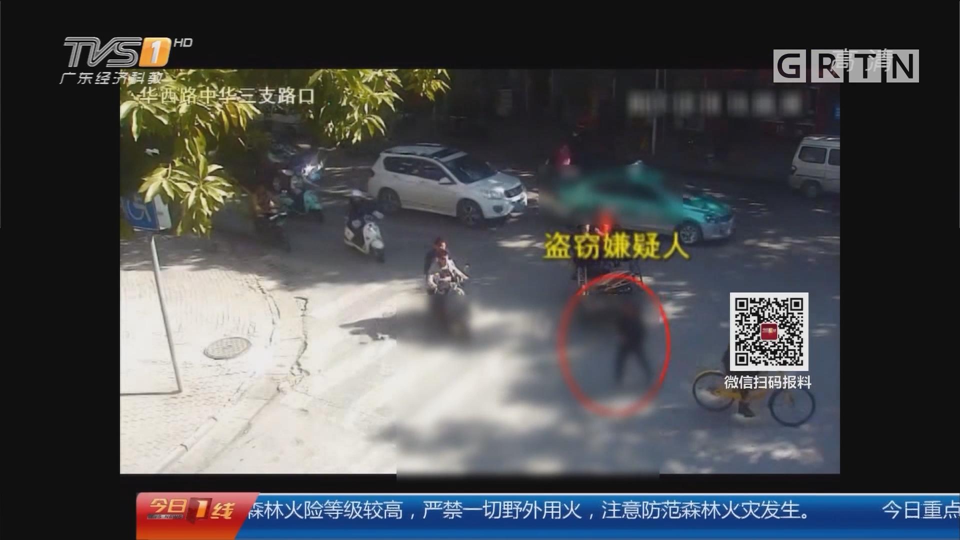 广西南宁:路遇小偷行窃 两小伙狂追拦截