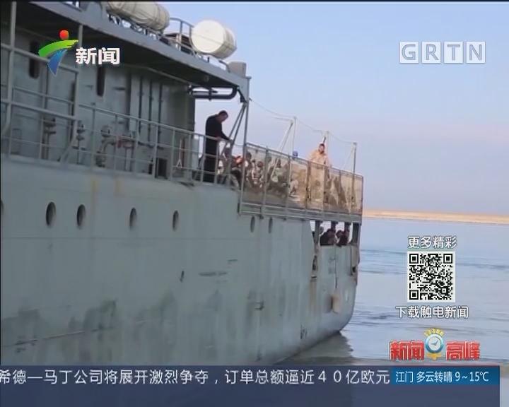 利比亚海警救起约270名非法移民