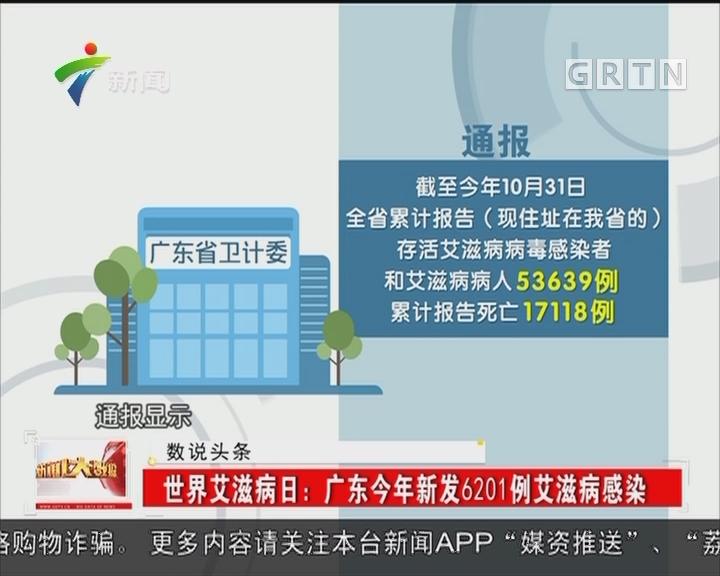 世界艾滋病日:广东今年新发6201例艾滋病感染