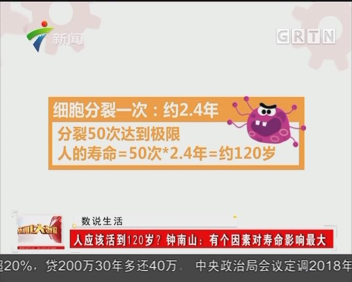 人应该活到120岁? 钟南山:有个因素对寿命影响最大
