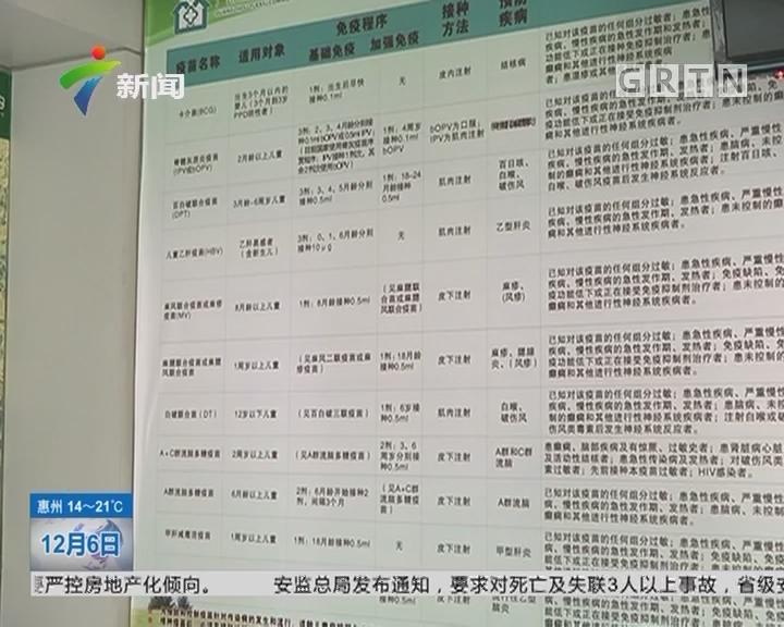 疫苗接种:广州多家社区医院五联和十三价疫苗断货