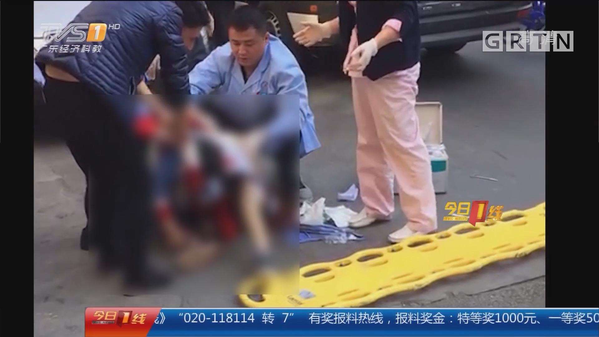 深圳龙岗:小学生当街被刺伤 女路人被抓