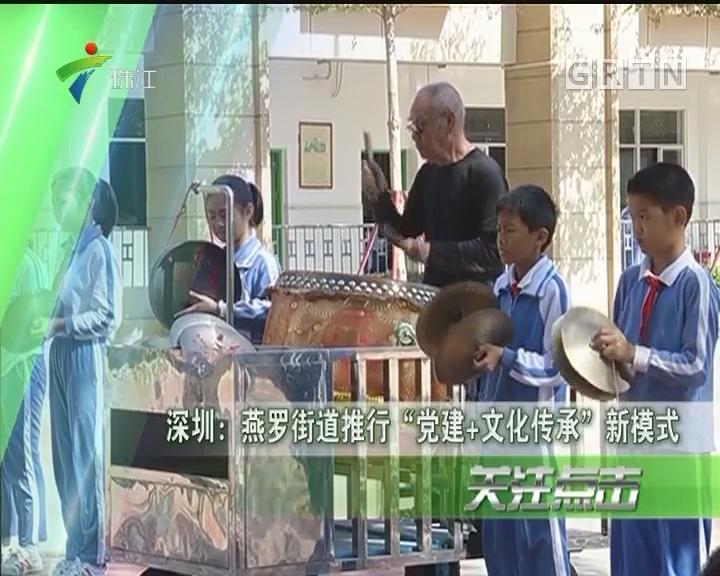 """深圳:燕罗街道推行""""党建+文化传承""""新模式"""