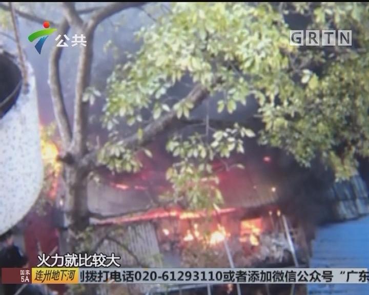 广州:仓库发生火灾 消防紧急救火