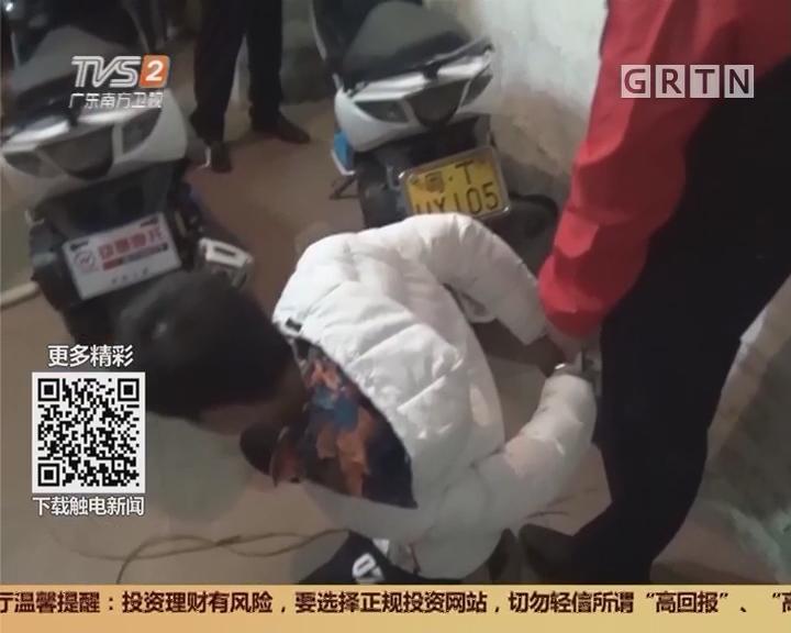 江门鹤山:飙车爱好者 专偷白色女装摩托