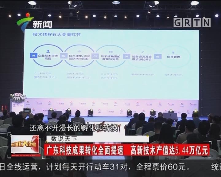 广东科技成果转化全面提速 高新技术产值达5.44万亿元