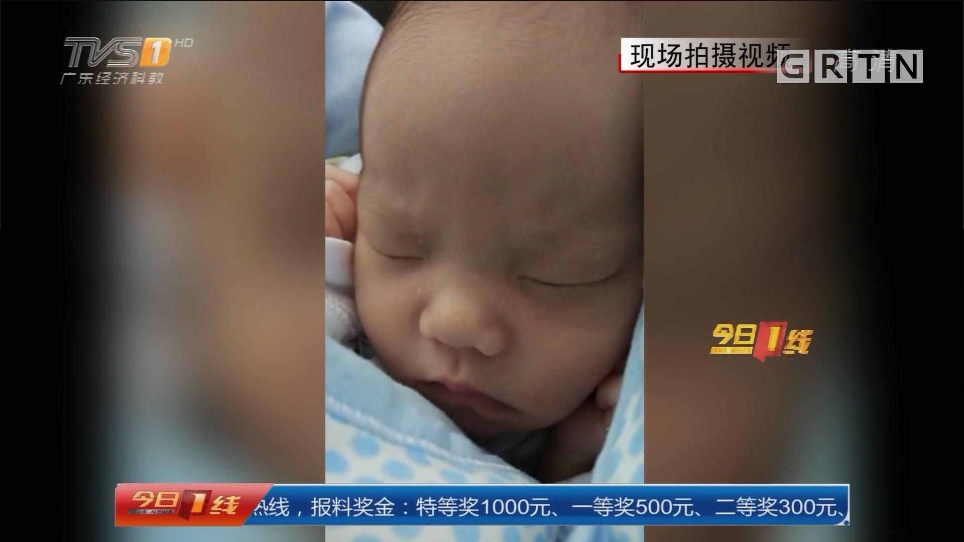 """系列专栏""""温度"""":广州 女婴被弃地铁口 众人伸援手"""