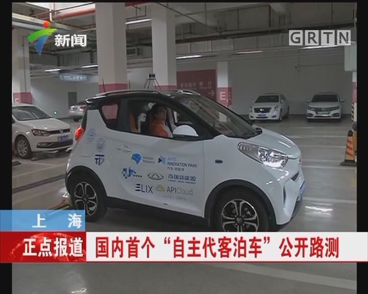 """上海:国内首个""""自主代客泊车""""公开路测"""