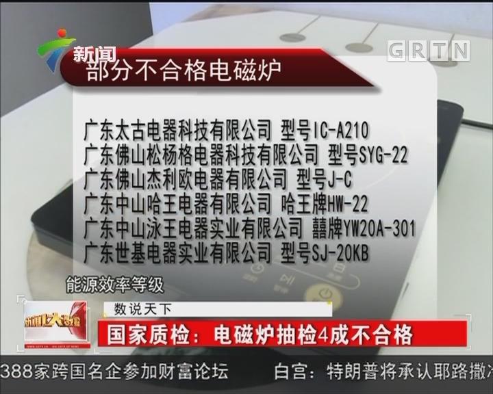 国家质检:电磁炉抽检4成不合格