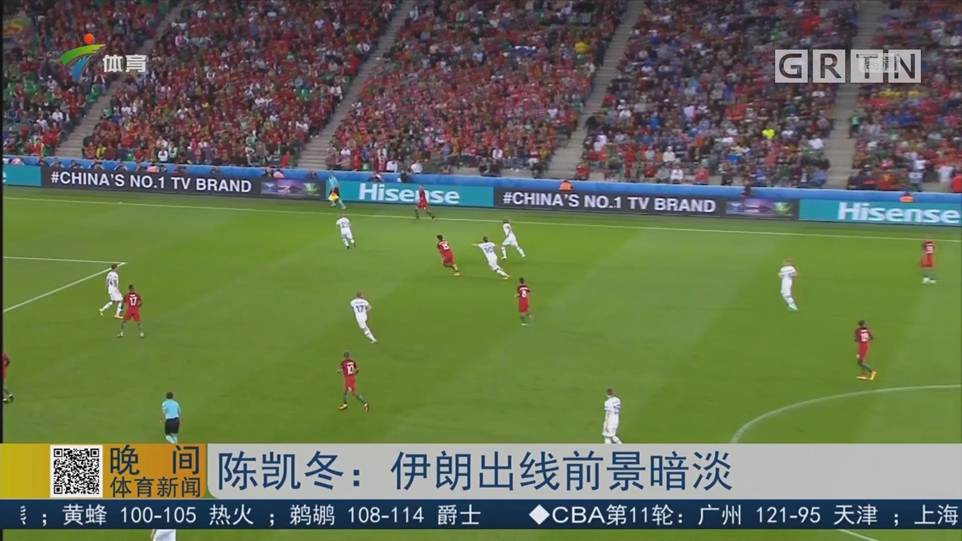 陈凯冬:伊朗出线前景暗淡