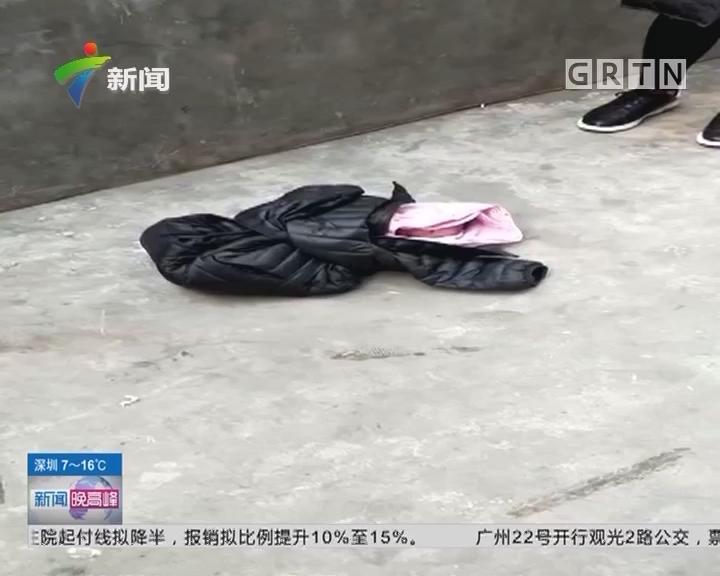 广州:初生男婴被弃垃圾池 嘴里塞纸巾