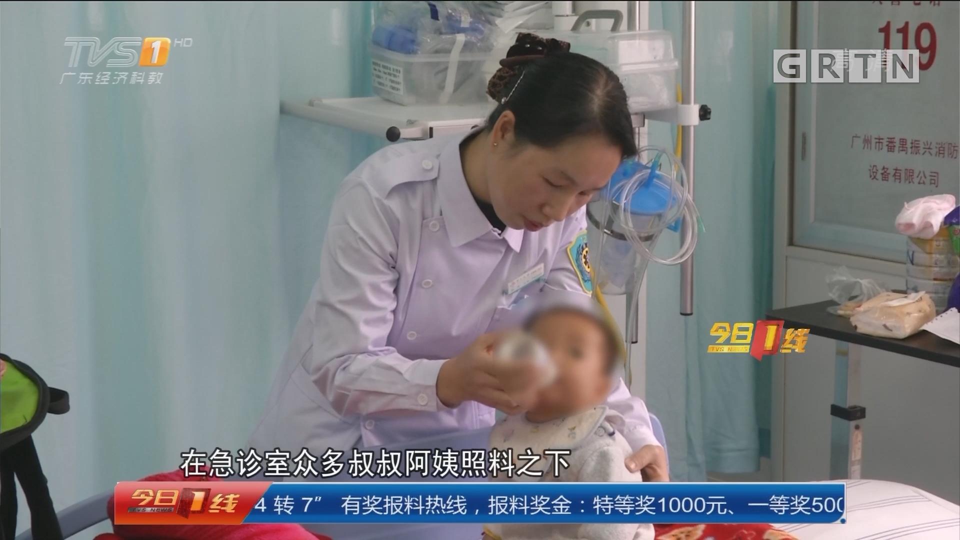 弃婴:1岁男婴被弃路边 医生护士来呵护
