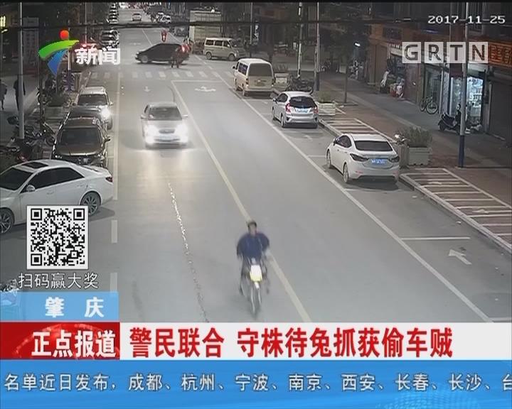 肇庆:警民联合 守株待兔抓获偷车贼
