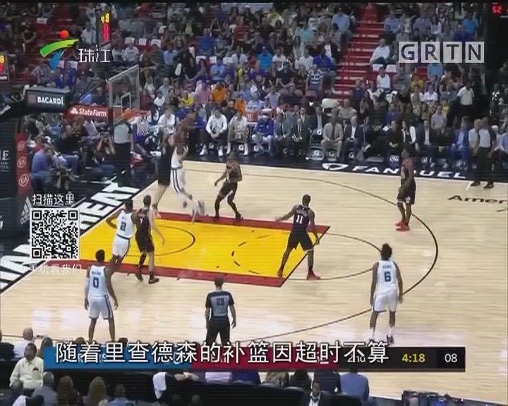 NBA 库里三节30分 勇士大胜热火