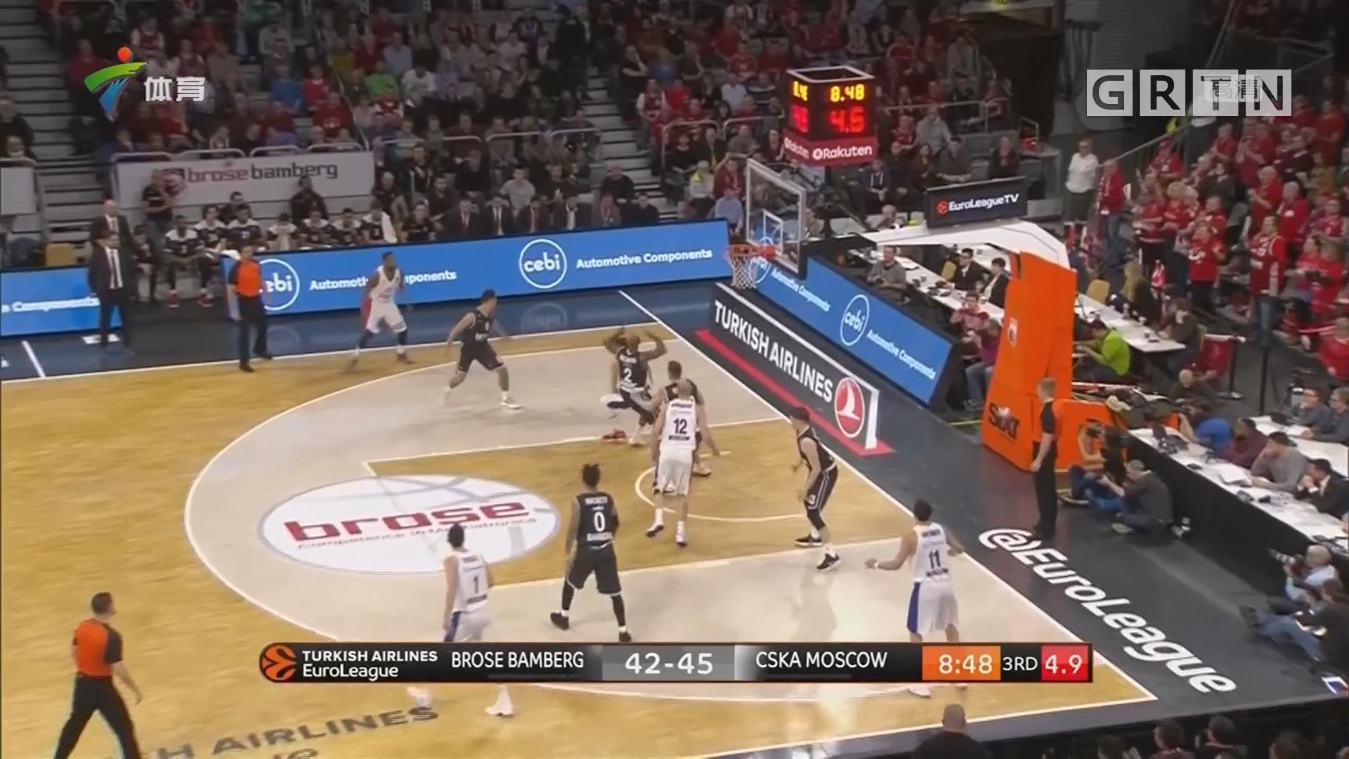 欧冠篮球联赛 莫斯科中央陆军击败保罗沙