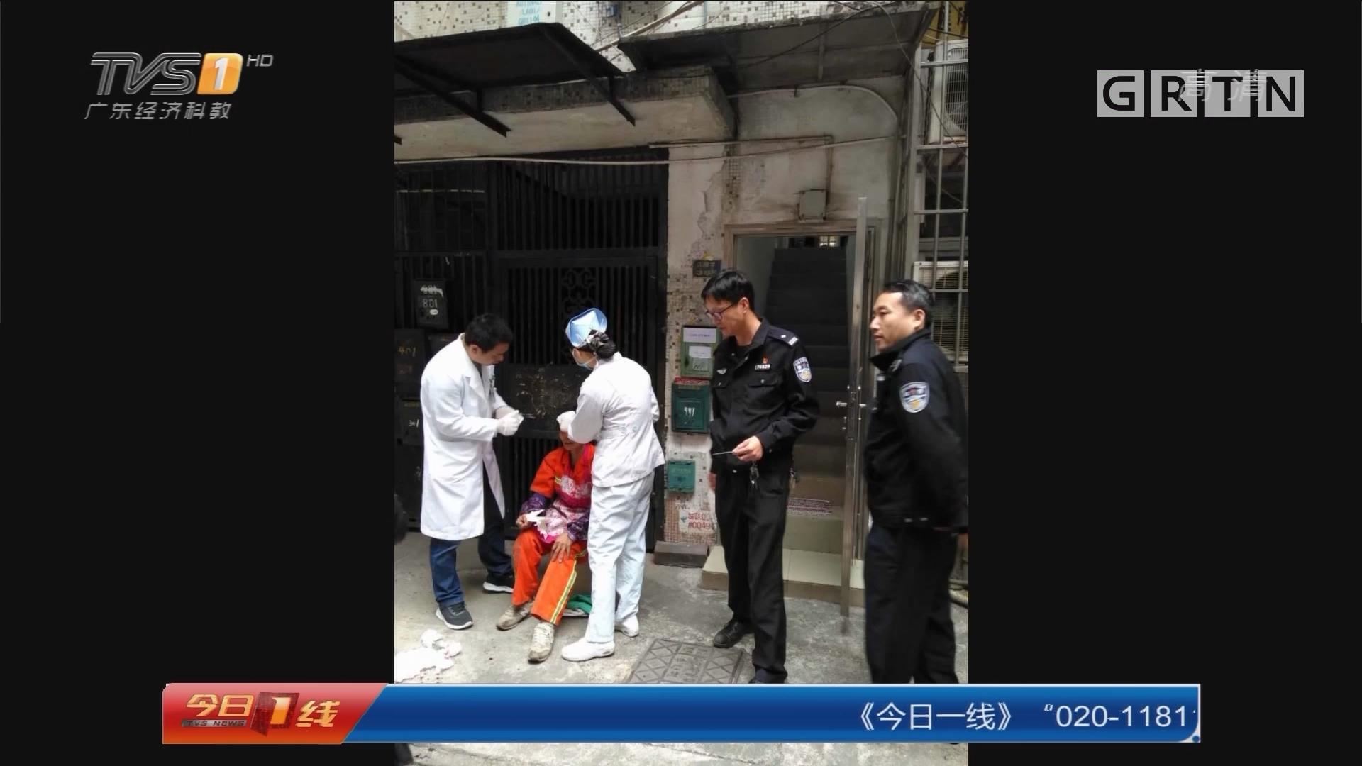 江门蓬江:清理建筑垃圾 环卫女工被打伤