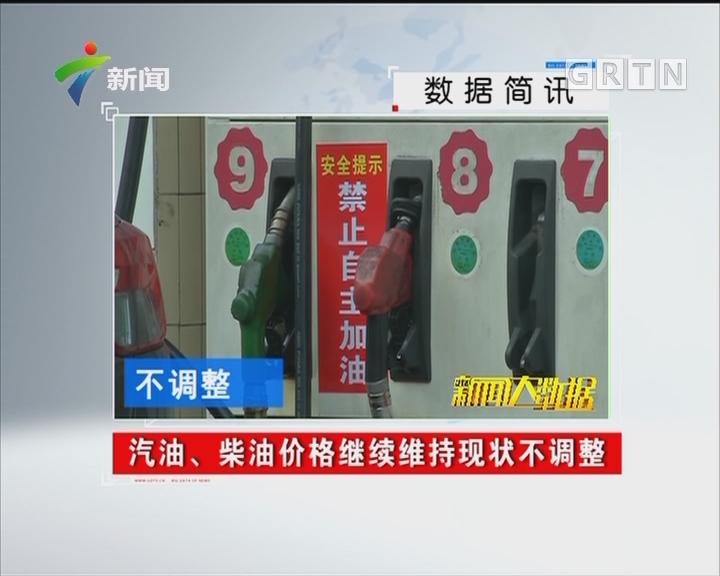 汽油、柴油价格继续维持现状不调整