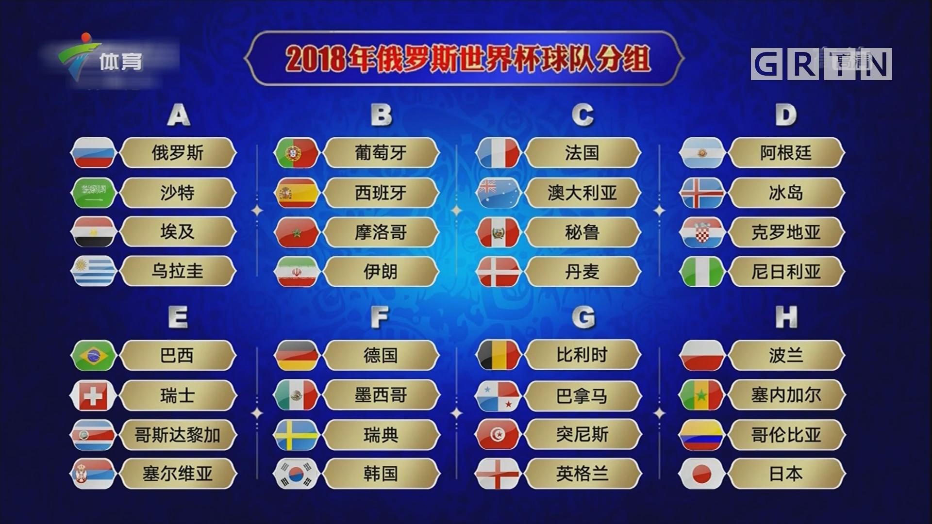 世界杯32强分组抽签尘埃落定
